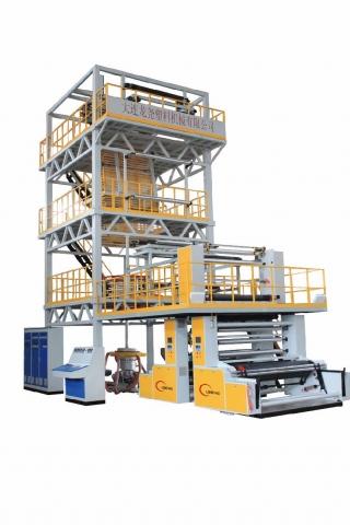 龙尧公司客户工厂吹膜机设备