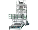 Three-layer Co-extrusion Blowing Film Machine (IBC system, Oscillating system, Automatic winder)